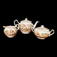 3 piece RARE tea set Johnson Bros Windsor ware Mount Vernon