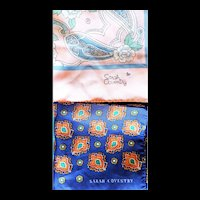 Vintage scarves set of 2 Sarah Coventry Paisley and Floral