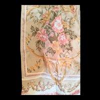 Liz Claiborne scarf long silk Baroque style golden shimmer
