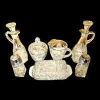 Early American Prescut table service set 11 piece in original box