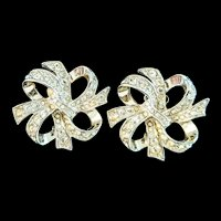 Kenneth J Lane rhinestone and silver-tone earrings KJL for Avon