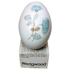 Wedgewood bone china ICE ROSE egg shaped trinket box with lid