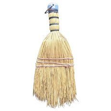 Vintage hand whisk broom made in Hungary