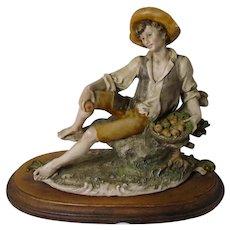 Armani Figurine Capodimonte Boy with Apple Basket