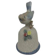 """Duncan Royale """"Blue Bird"""" Bell made of Fine Porcelain"""