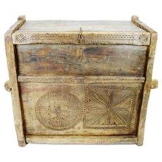 Ancient Kafiristan Nuristan Dowry Treasure Chest