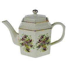 Vintage Arthur Wood England Porcelain Floral Teapot