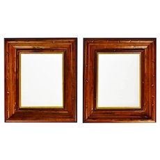 Vintage Wood Picture Frames  - A Pair