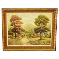 """Vintage Framed Thomas Manning Moore """"Silent Sentinels"""" Landscape Print"""