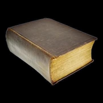 Antique 1892 The Original Webster's Unabridged Dictionary