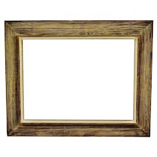 Vintage Large Scale Distressed Wood Picture Frame