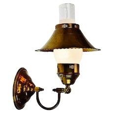 Vintage Brass Adjustable Desk Lamp or Wall Sconce