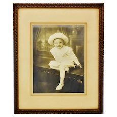 Antique Framed Photograph of Well Dressed Child