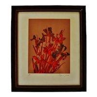 Vintage Framed Robert Jones Floral Print - Artist Proof