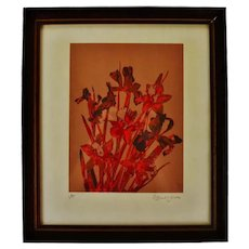 Vintage Framed Robert Jones Floral Print - Artist Proof