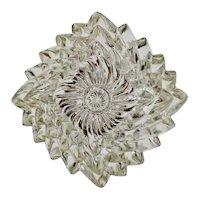 Vintage Crystal Nesting Ashtrays - Set of 3