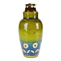 """Vintage Aldo Londi """"Thai Silk"""" for Rosenthal Netter Bitossi Gilded Italian Table Lighter"""