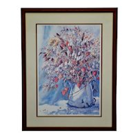Vintage Framed Sandra Giangiulio Limited Edition Lithograph - Artist Signed
