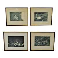 Vintage Framed Andrew Wyeth Prints Collection of Mrs. Andrew Wyeth - Set of 4