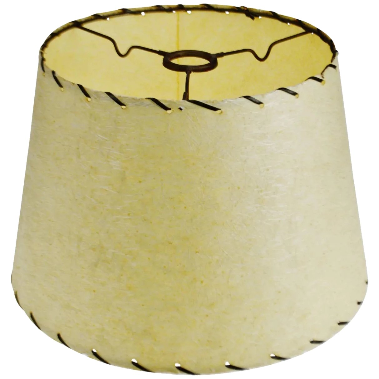 Picture of: Mid Century Modern Fiberglass Lamp Shade W Spider Reflector Fitter Birchard Hayes Company Inc Ruby Lane
