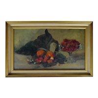 Vintage Framed Oil on Board Still Life Painting - Artist Signed