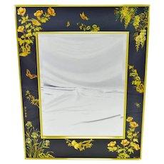 Vintage La Barge Reverse Painted Glass Frame with Beveled Mirror - Artist Signed
