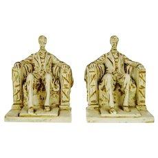 Vintage 1962 Austin Productions Sculpture Lincoln Bookends