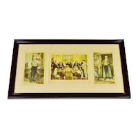 Early Morris & Bendien Framed Mezzogravure Prints - Signed