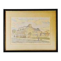 Vintage 1941 Framed Fredrick K. Detwiller Print - Artist Signed