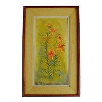Vintage Framed Floral Still Life Oil Painting on Canvas - Artist Signed