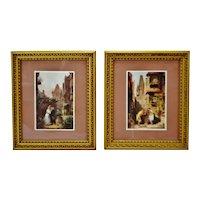 Vintage Framed Victorian Scene Windsor Art Prints - A Pair