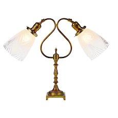 French Art Deco Dual Articulating Socket Desk Lamp