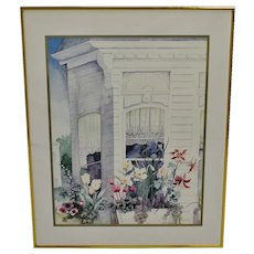 "Vintage Framed Susan Tolle McClure Print titled ""Victorian Windows"""