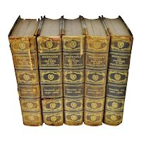 1899 A Compilation of Messages and Papers of the Presidents Illustrated Copy # 12- Group of 5 Volumes