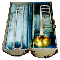 1921 Conn 4H Silver Slide Trombone w/ Original Case & Original Conn Mouthpiece