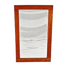 Antique Oak Wood Framed Wall Mirror