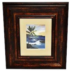 Vintage Framed Photography Art of Original Hawaiian Oil Painting - Artist Signed