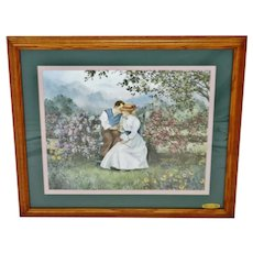 Vintage Framed Glynda Turley Sweet Nothings Limited Edition Lithograph w/ COA - Artist Signed