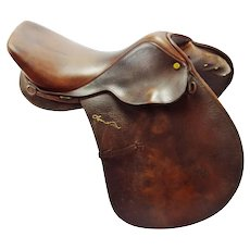 "Vintage 16.5"" Collegiate RD Lynn Palm Close Contact English Saddle"