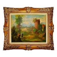 Vintage G & A Van Den Bogaerde Belgium Framed Oil on Canvas Painting - Artist Signed