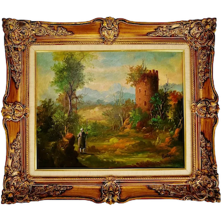 Vintage G&A Van Den Bogaerde Belgium Framed Oil on Canvas Painting - Artist Signed