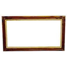 Vintage Large Wood Picture Frame, Mirror Frame - 56 x 32