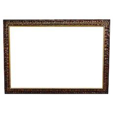 Vintage Large Carved Wood Picture Frame
