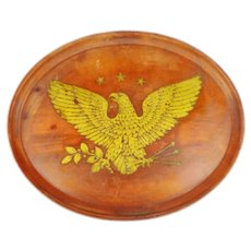 Vintage Boltalite Oval Tray with Eagle Design