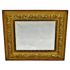 Antique Victorian Gold Gilt Gesso 4 Layer Framed Mirror 30 x 26