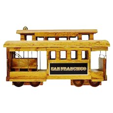 San Francisco Wooden Cable Car Music Box
