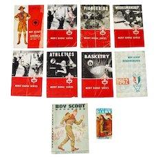 Boy Scout Merit Badge Books, Handbook and Diary BSA