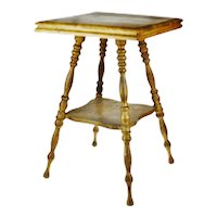 Antique Wood Fern Stand Side Table