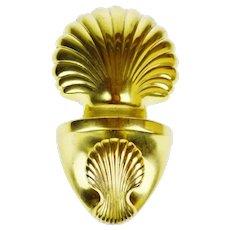Vintage Brass Shell Design Door Knocker