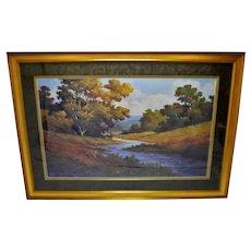 Vintage Large Scale Framed Landscape Print - 65 x 46